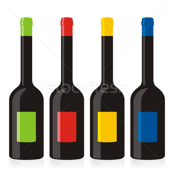 Isolado vinagre balsâmico garrafas conjunto arte Foto stock © PilgrimArtworks