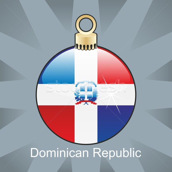 isolated dominican republic flag in christmas bulb shape Stock photo © PilgrimArtworks