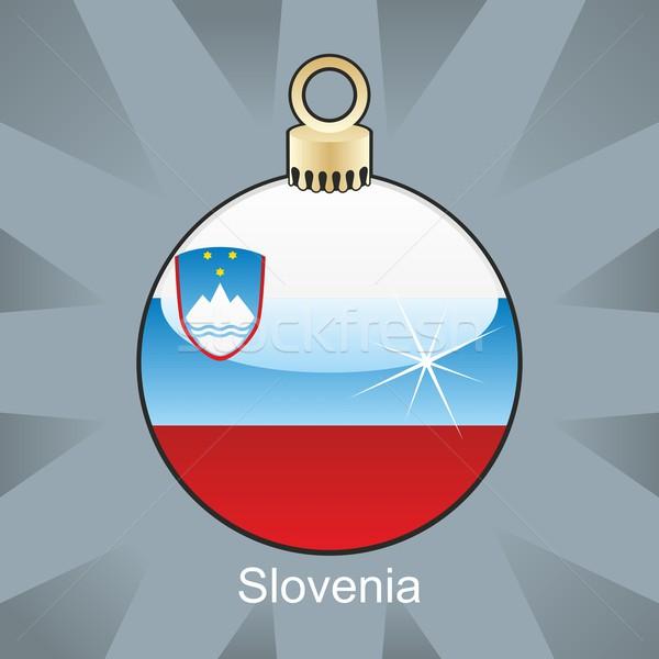 Isolato Slovenia bandiera Natale lampadina Foto d'archivio © PilgrimArtworks