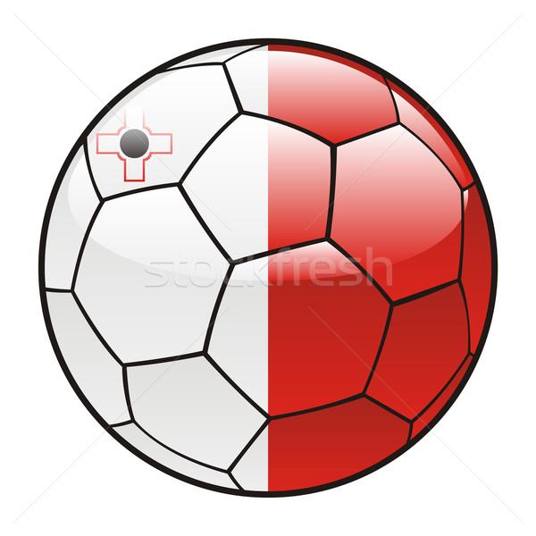 Malta vlag voetbal sport voetbal Stockfoto © PilgrimArtworks