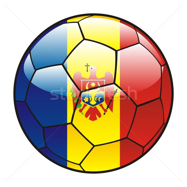 Молдова флаг футбольным мячом Футбол спорт футбола Сток-фото © PilgrimArtworks