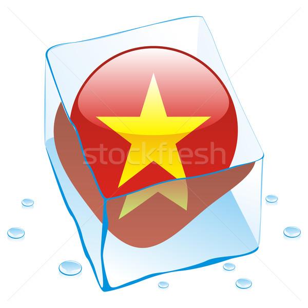 ベトナム ボタン フラグ 凍結 アイスキューブ ストックフォト © PilgrimArtworks
