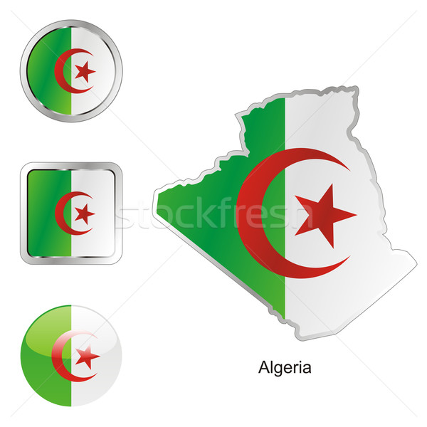 algeria in map and internet buttons shape Stock photo © PilgrimArtworks