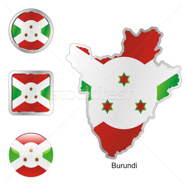 Burundi hartă butoane de internet pavilion Imagine de stoc © PilgrimArtworks