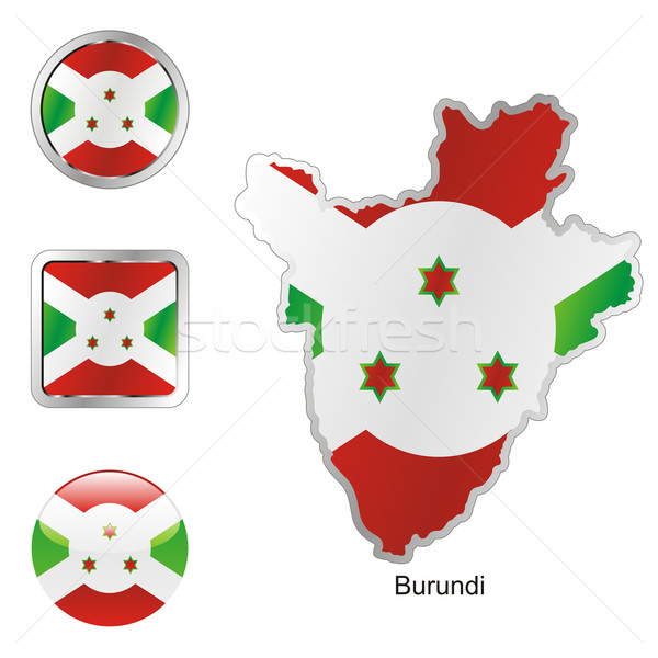 Burundi mapa forma bandeira Foto stock © PilgrimArtworks