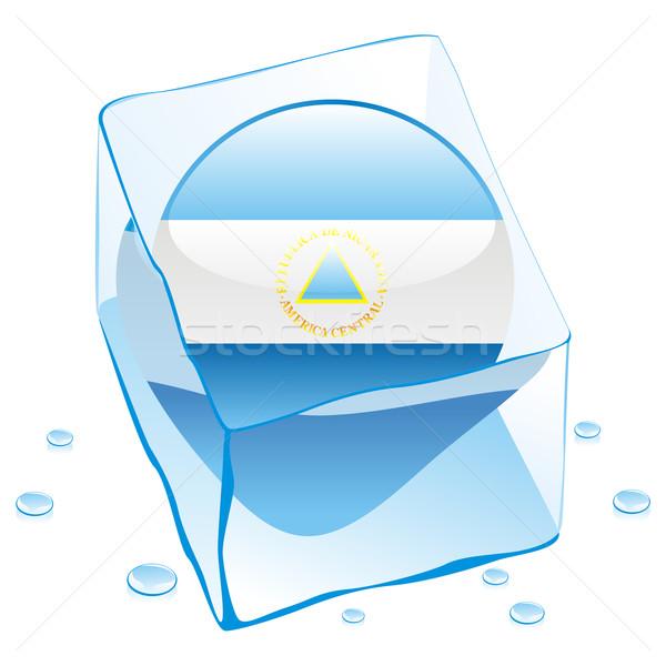 Nicarágua botão bandeira congelada ice cube Foto stock © PilgrimArtworks