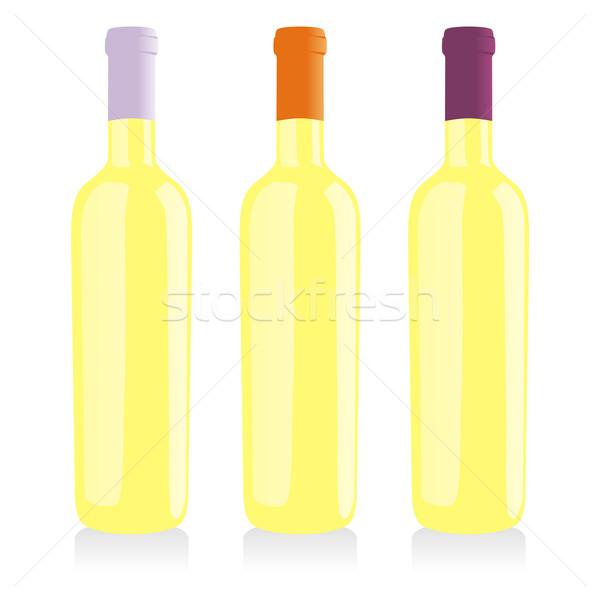 классический форма вино бутылок вечеринка фон Сток-фото © PilgrimArtworks