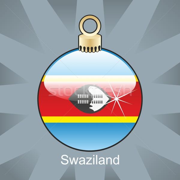 孤立した スワジランド フラグ クリスマス 電球 ストックフォト © PilgrimArtworks