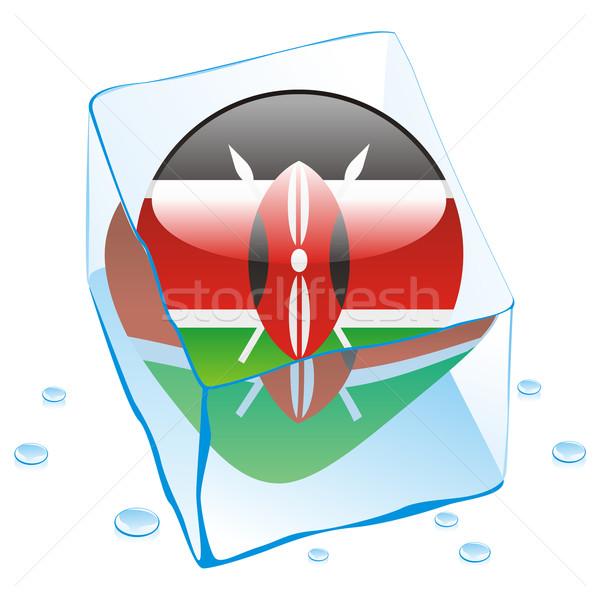 Kenya bouton pavillon congelés glaçon Photo stock © PilgrimArtworks