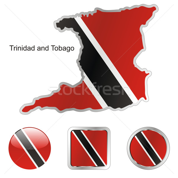 trinidad and tobago in map and web buttons shapes Stock photo © PilgrimArtworks