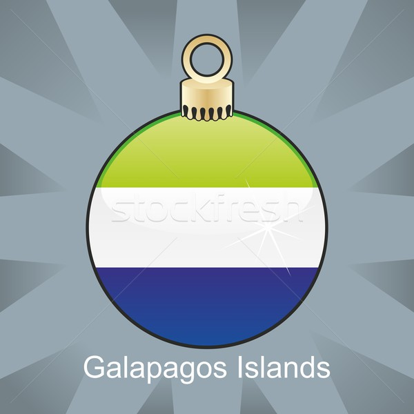 isolated galapagos islands flag in christmas bulb shape Stock photo © PilgrimArtworks