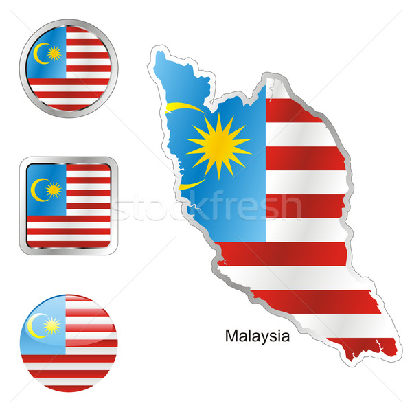 malaysia in map and internet buttons shape Stock photo © PilgrimArtworks