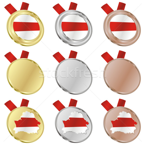 belarus vector flag in medal shapes Stock photo © PilgrimArtworks