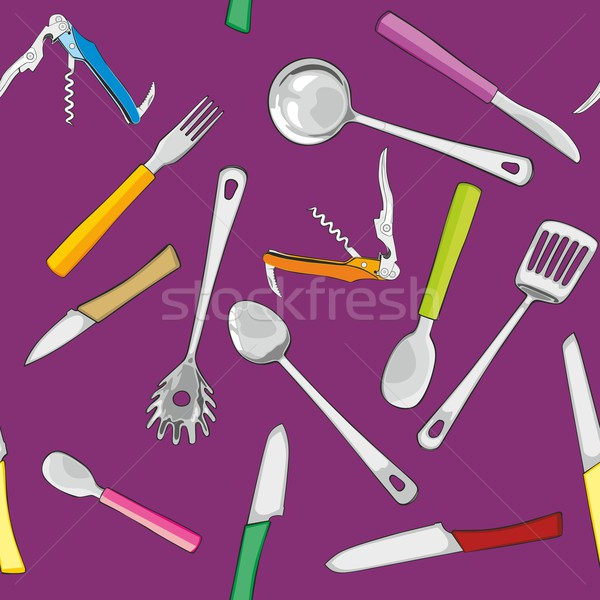Cuisine outils couteau outil Photo stock © PilgrimArtworks