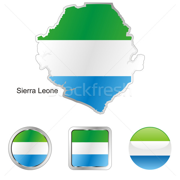 sierra leone in map and web buttons shapes Stock photo © PilgrimArtworks