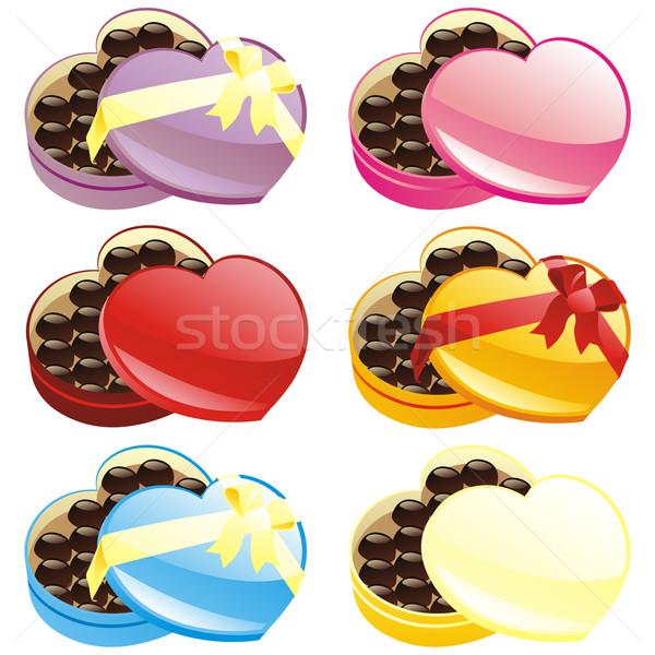ギフト チョコレート ボックス 心臓の形態 結婚式 ストックフォト © PilgrimArtworks