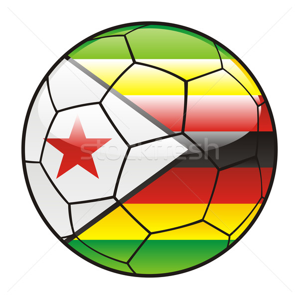 Zimbabwe flag on soccer ball Stock photo © PilgrimArtworks