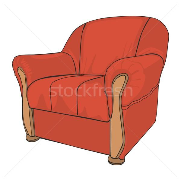 Izolált színes fotel szerkeszthető divat fekete Stock fotó © PilgrimArtworks