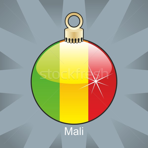 isolated mali flag in christmas bulb shape Stock photo © PilgrimArtworks