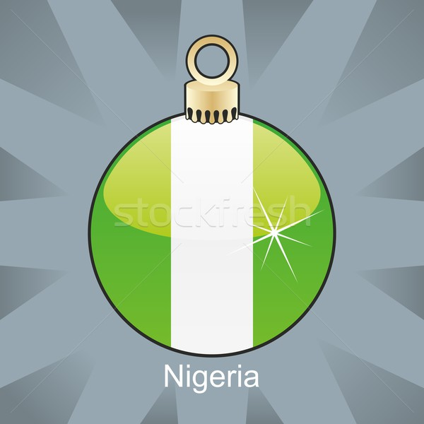 Isolado Nigéria bandeira natal bulbo forma Foto stock © PilgrimArtworks