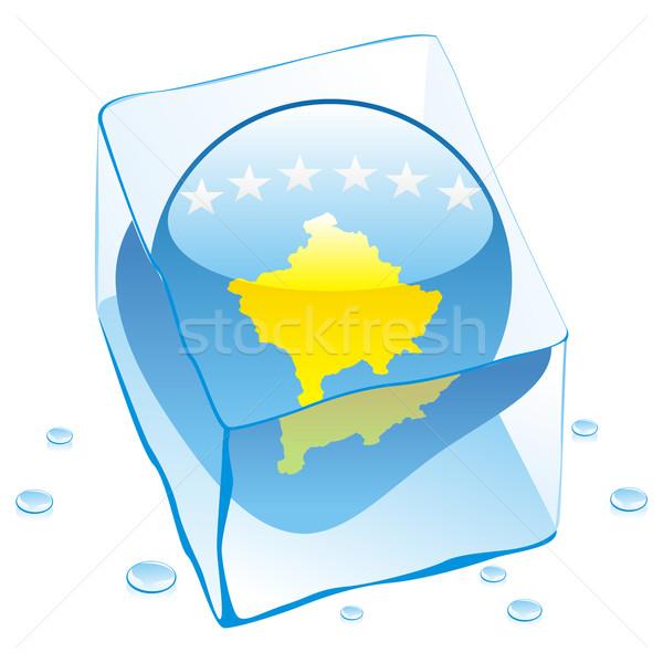 コソボ ボタン フラグ 凍結 アイスキューブ ストックフォト © PilgrimArtworks