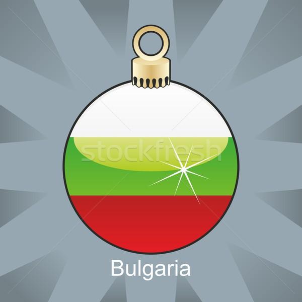 Bulgária bandeira natal bulbo forma Foto stock © PilgrimArtworks