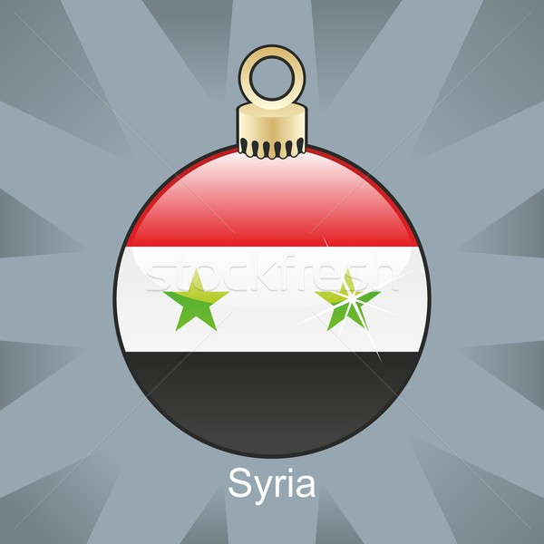 Geïsoleerd Syrië vlag christmas lamp vorm Stockfoto © PilgrimArtworks