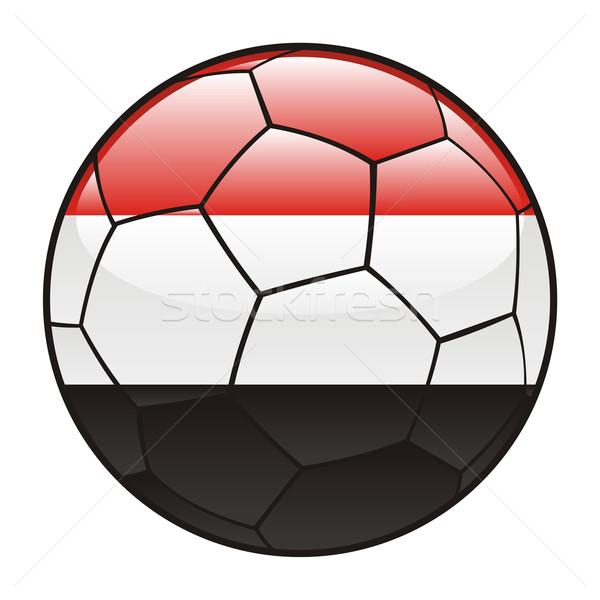 Egypt flag on soccer ball Stock photo © PilgrimArtworks