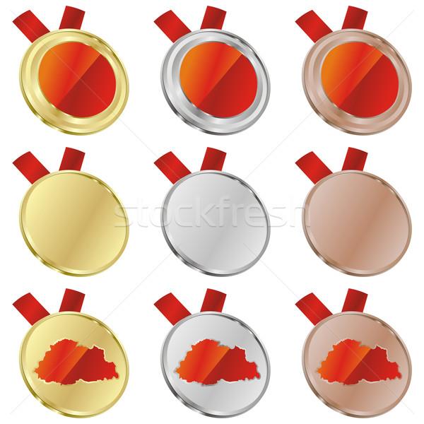 ベクトル フラグ 金メダル 地図 ストックフォト © PilgrimArtworks