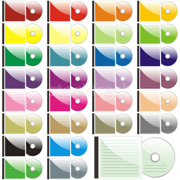 twenty-five colored CDs and cases Stock photo © PilgrimArtworks
