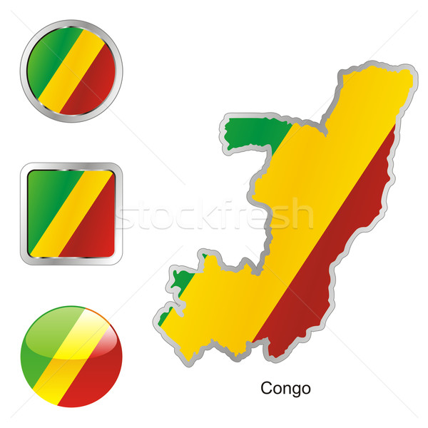 congo in map and internet buttons shape Stock photo © PilgrimArtworks
