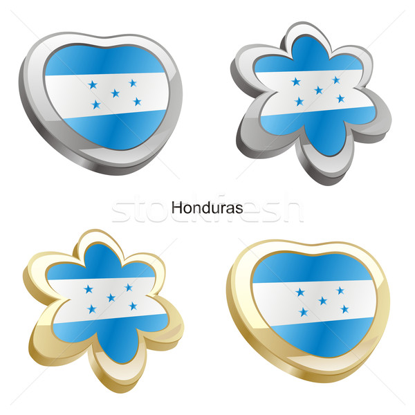 Гондурас флаг сердце цветок форма Сток-фото © PilgrimArtworks
