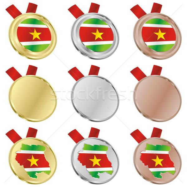 Суринам вектора флаг медаль Сток-фото © PilgrimArtworks