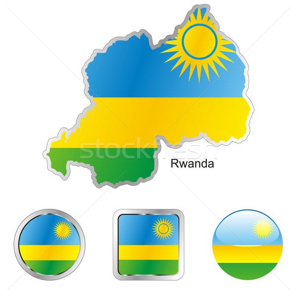 Rwanda Pokaż internetowych przyciski Zdjęcia stock © PilgrimArtworks