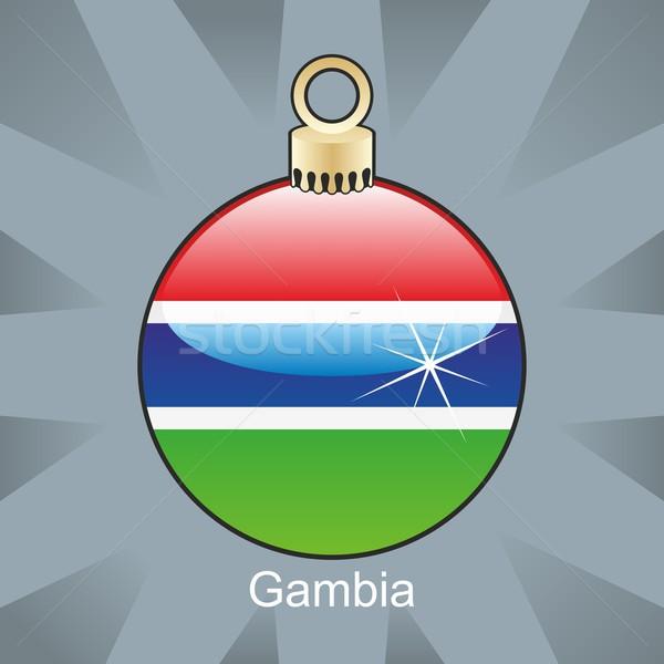 孤立した ガンビア フラグ クリスマス 電球 ストックフォト © PilgrimArtworks