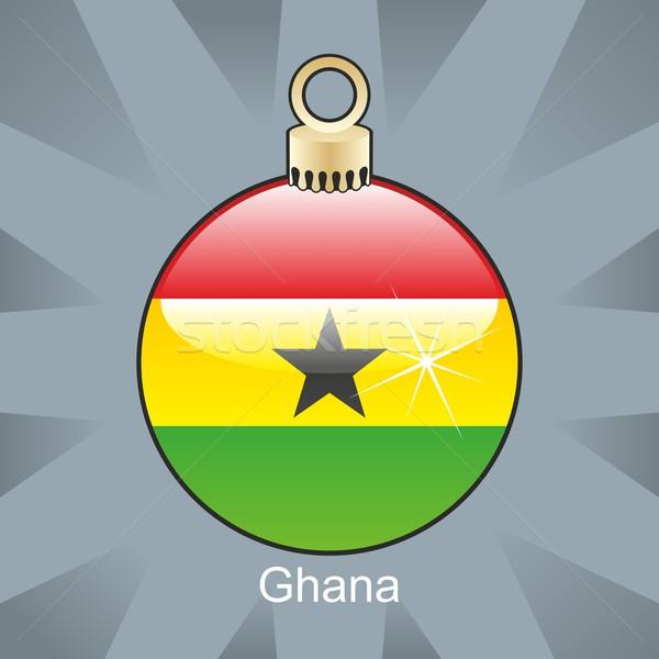 изолированный Гана флаг Рождества лампа форма Сток-фото © PilgrimArtworks