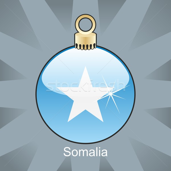 Odizolowany Somali banderą christmas żarówki Zdjęcia stock © PilgrimArtworks