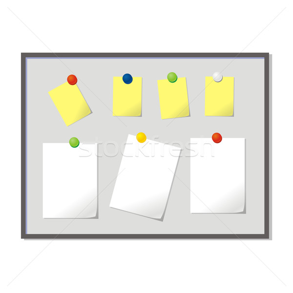magnetic board with blank papers Stock photo © PilgrimArtworks