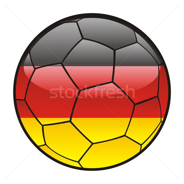 Allemagne pavillon ballon football sport football Photo stock © PilgrimArtworks
