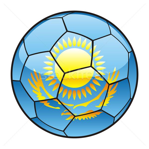 Kazajstán bandera balón de fútbol fútbol deporte fútbol Foto stock © PilgrimArtworks
