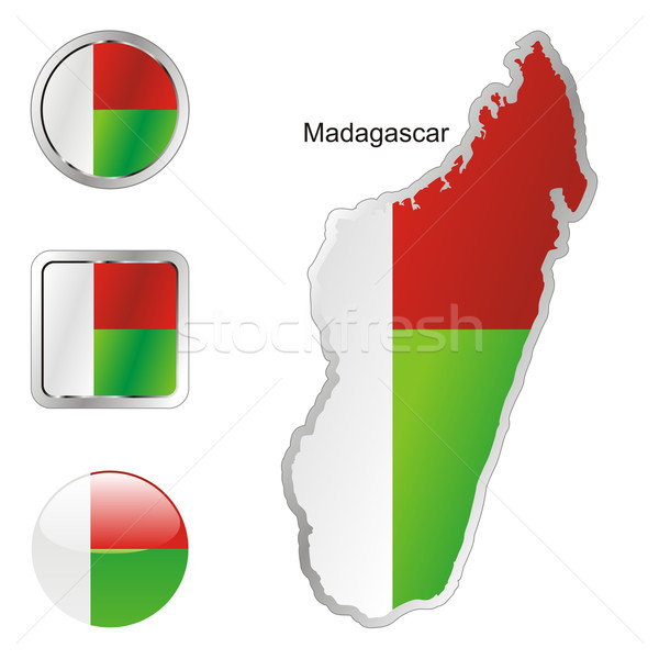 madagascar in map and web buttons shapes Stock photo © PilgrimArtworks