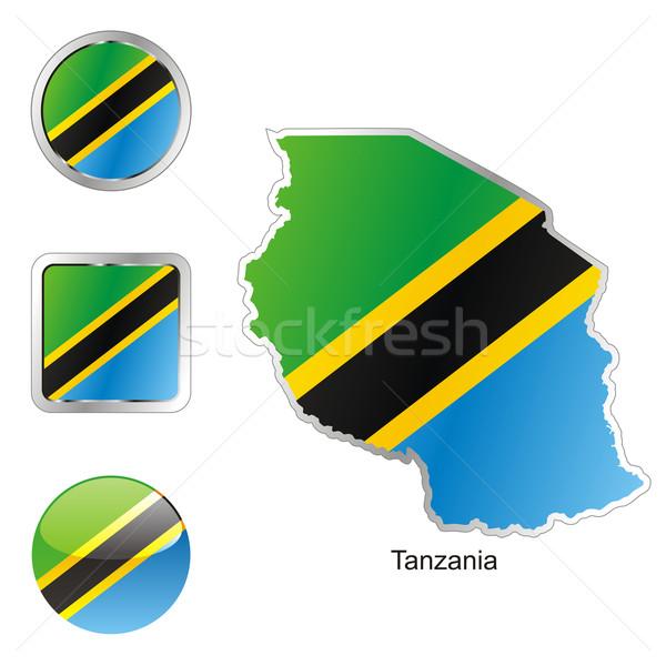 Tansania Karte Web Tasten Formen editierbar Stock foto © PilgrimArtworks