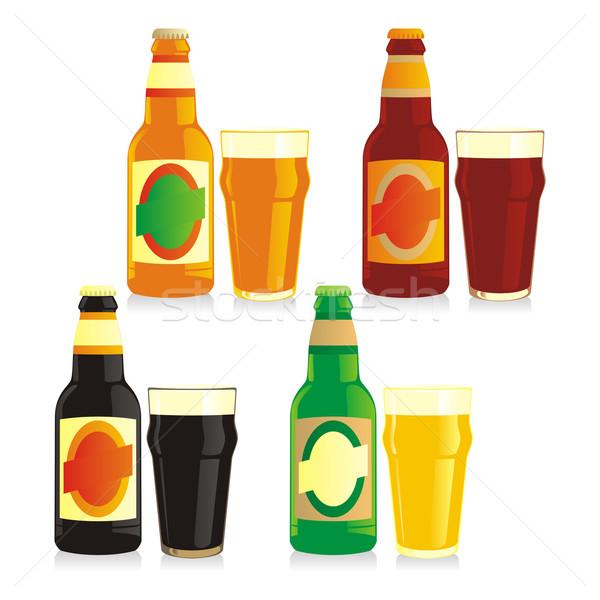 isolated bottles and glasses Stock photo © PilgrimArtworks