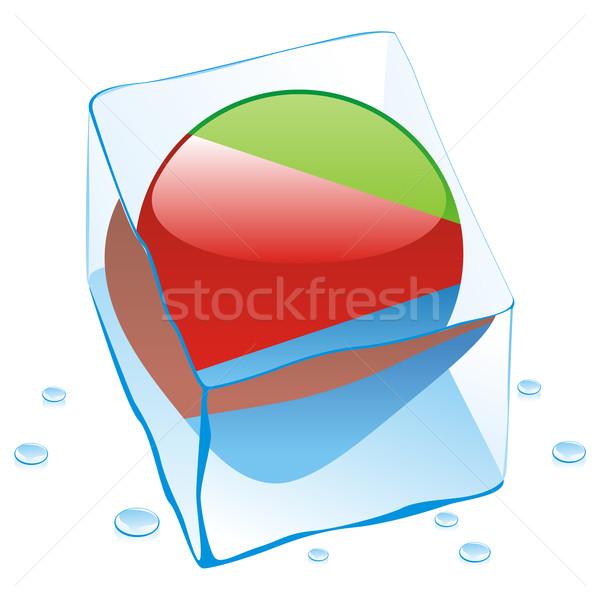 Эритрея кнопки флаг заморожены Ice Cube Сток-фото © PilgrimArtworks