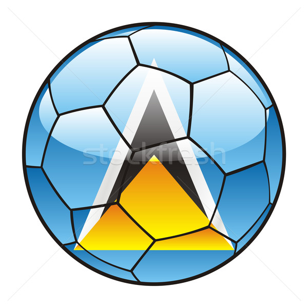 Saint Lucia flag on soccer ball Stock photo © PilgrimArtworks