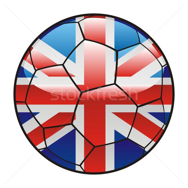 Groot-brittannië vlag voetbal sport object Stockfoto © PilgrimArtworks