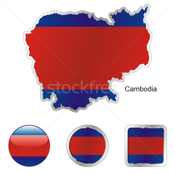 cambodia in map and internet buttons shape Stock photo © PilgrimArtworks