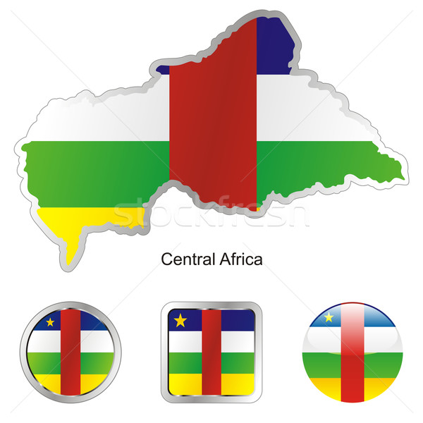 Centraal afrika kaart internet knoppen vorm Stockfoto © PilgrimArtworks