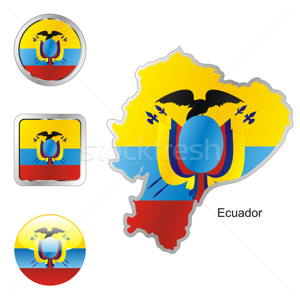 ecuador in map and web buttons shapes Stock photo © PilgrimArtworks