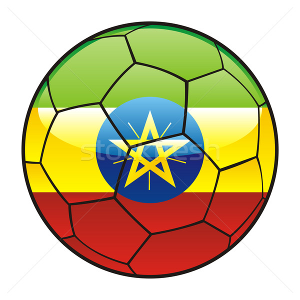 Ethiopia flag on soccer ball Stock photo © PilgrimArtworks